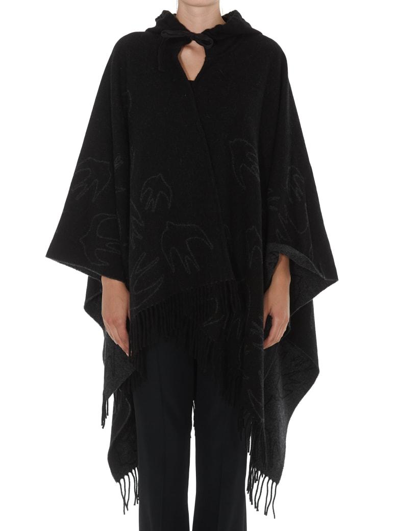 McQ Alexander McQueen Swallow Poncho - Darkest black