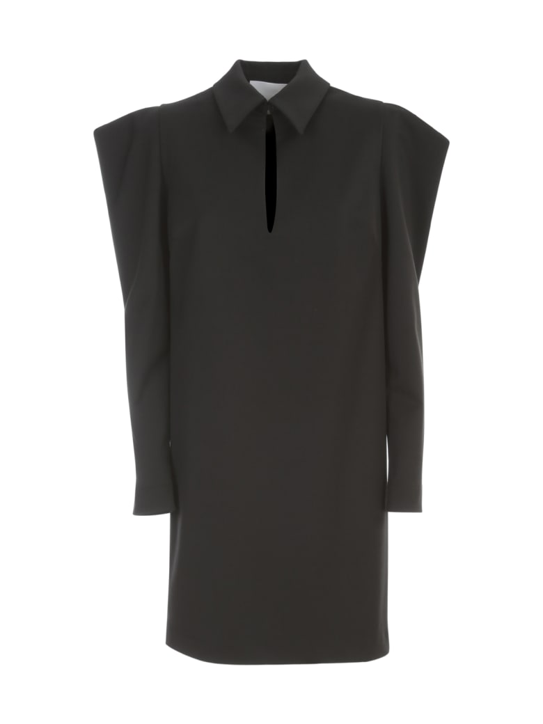 Erika Cavallini Rachele Puffed Sleeves Dress - Nero