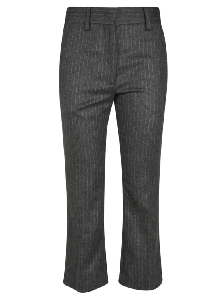 Barena Pinstripe Trousers - Anthracite