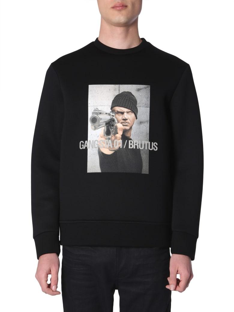 Neil Barrett Gangsta 01 / Brutus Printed Sweatshirt - NERO