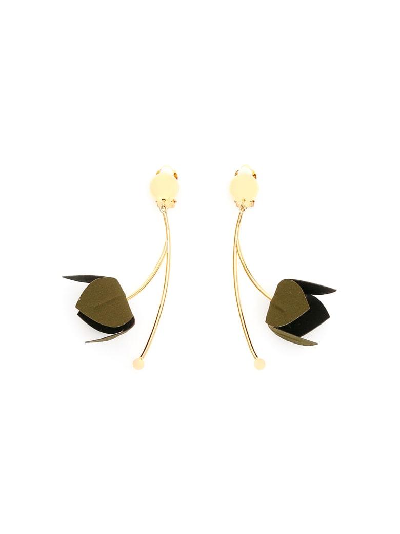 Marni Flora Earrings - BLACK (Black)