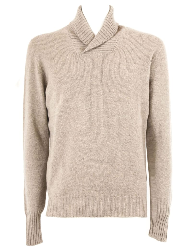 Drumohr Beige Lambswool Sweater - Beige