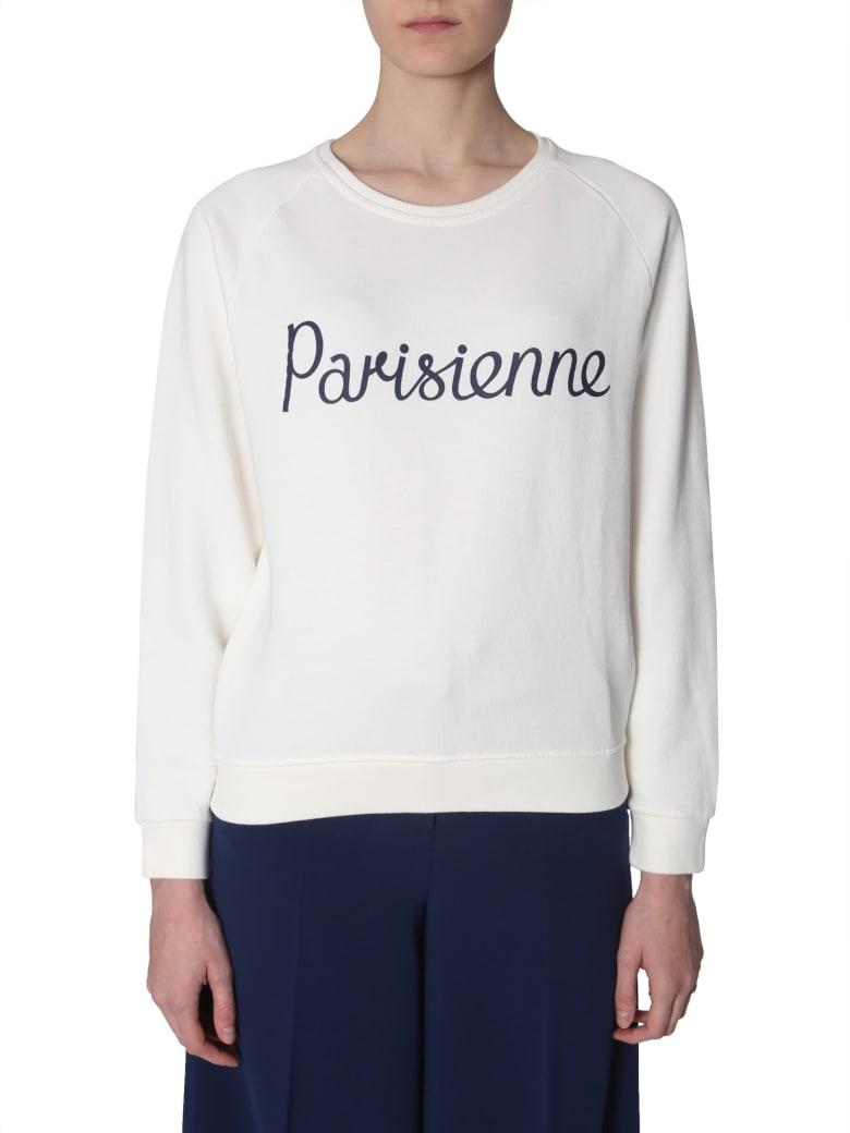 Maison Kitsuné Parisienne Print Sweatshirt - BIANCO