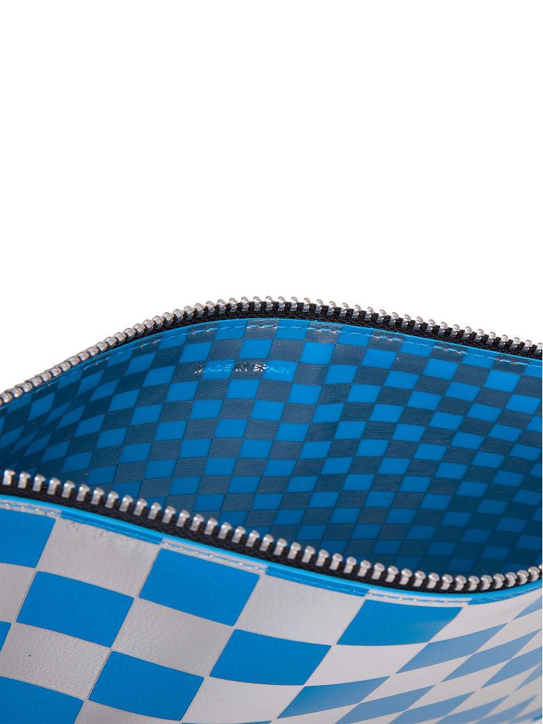 Comme des Garçons Wallet Polka Dot Zip Wallet - Blue