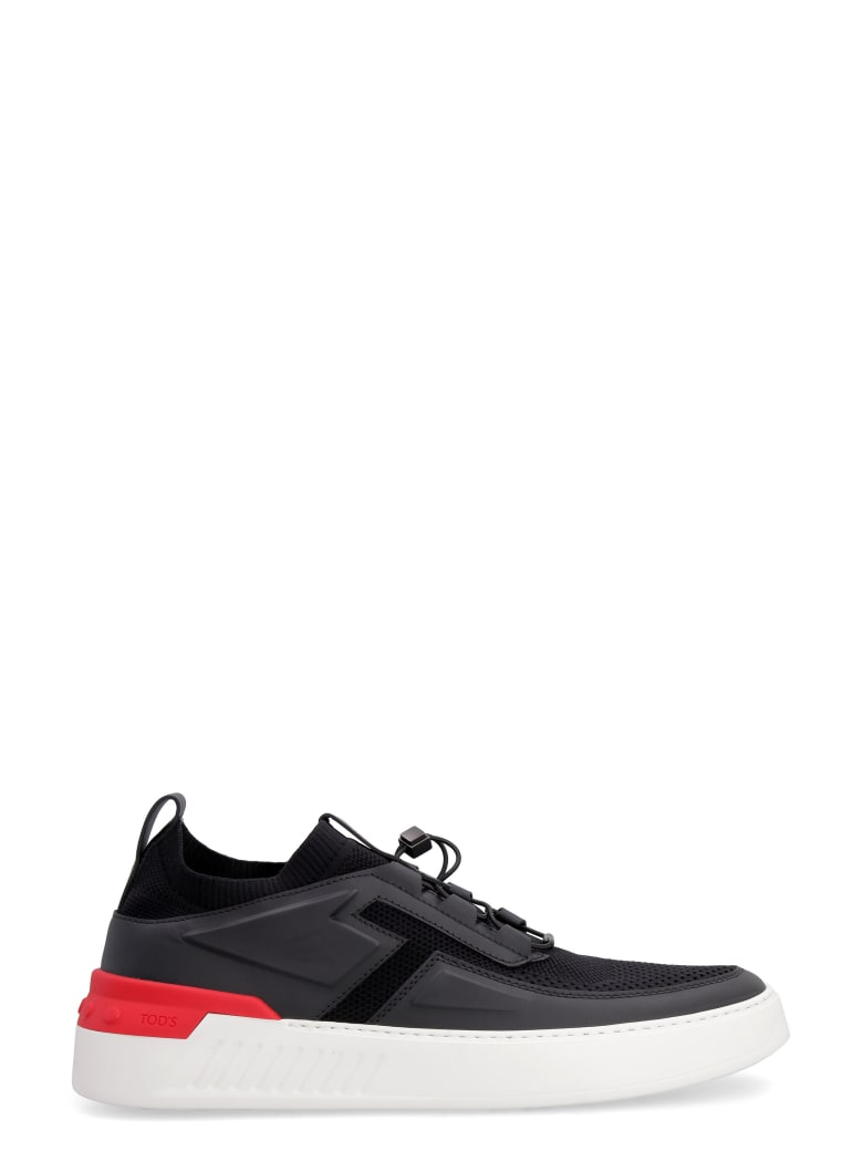 Tod's No Code 03 Techno-fabric And Leather Sneakers - black