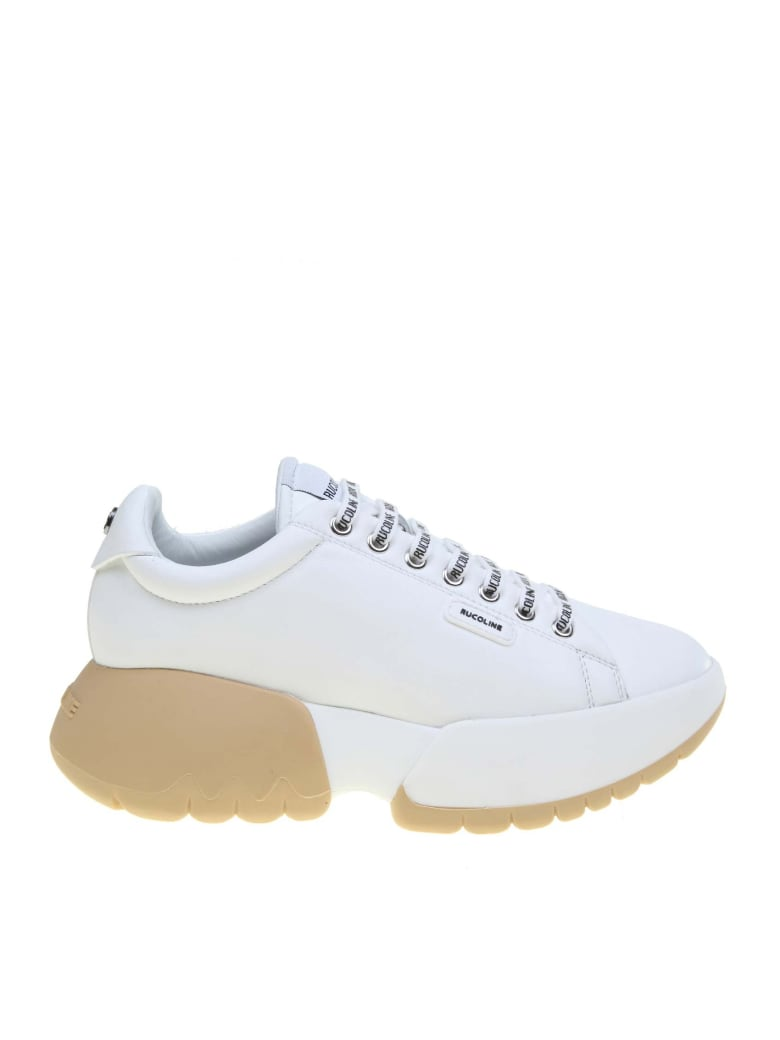 Ruco Line Rucoline Sneakers R-bubble 1454 In White Leather - White
