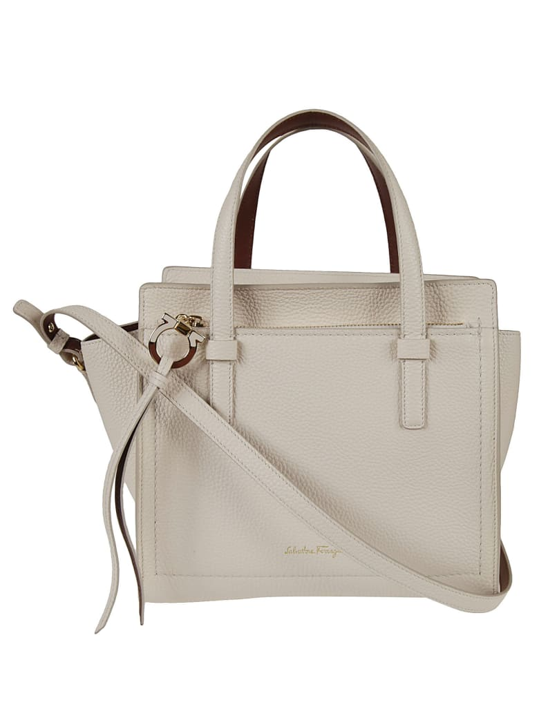 Salvatore Ferragamo Amy Tote - Cream/Yellow