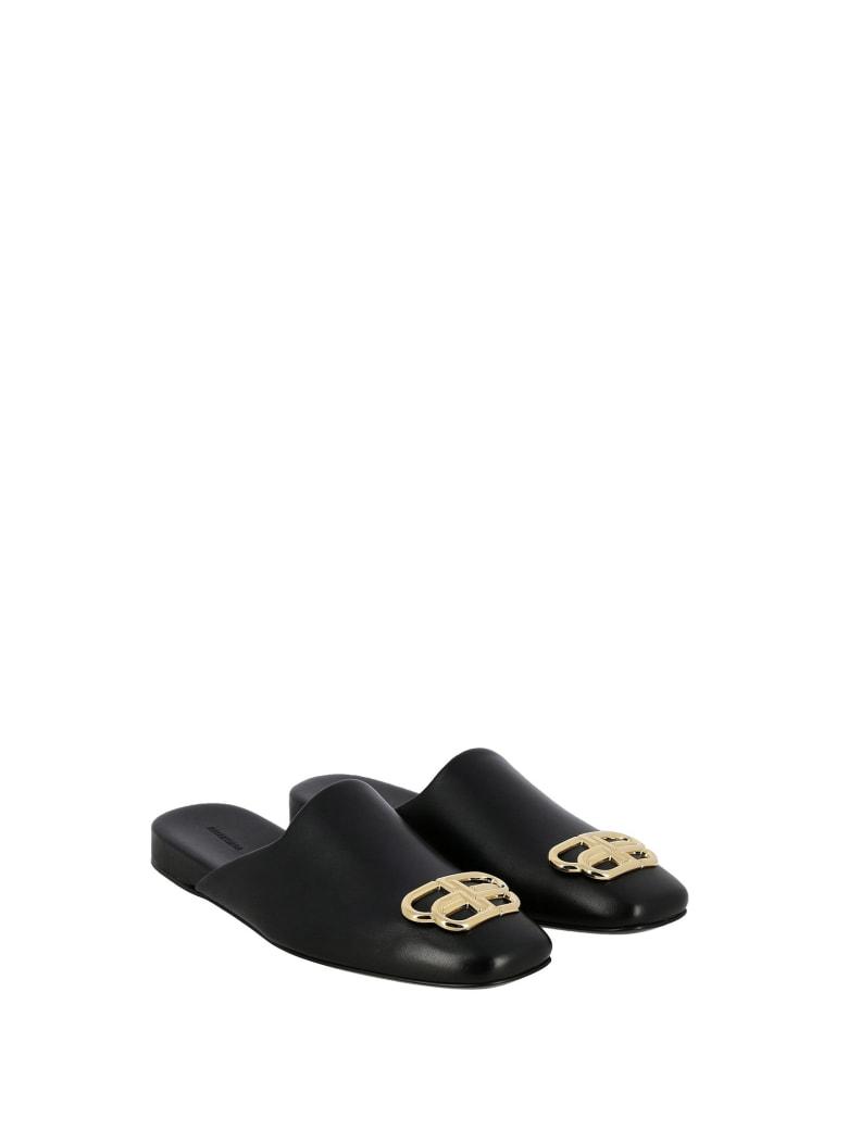 Balenciaga Balenciaga Black Bb Cosy Mules - BLK GOLD