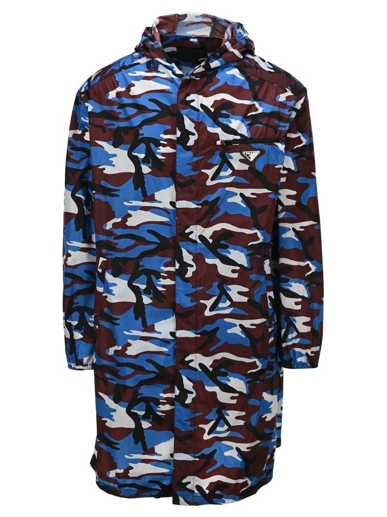 Prada Reversible Nylon Raincoat - BORDEAUX CAMOUFLAGE