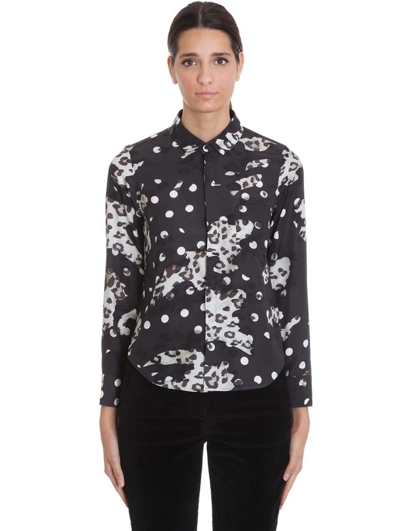 Neil Barrett Shirt In Black Silk - black