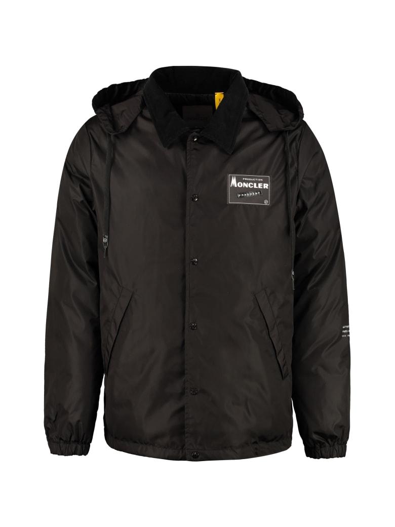 Moncler Kurn Hooded Padded Jacket - black
