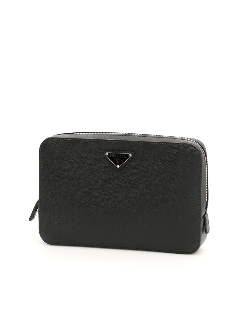 Prada Single Zip Pouch - NERO (Black)