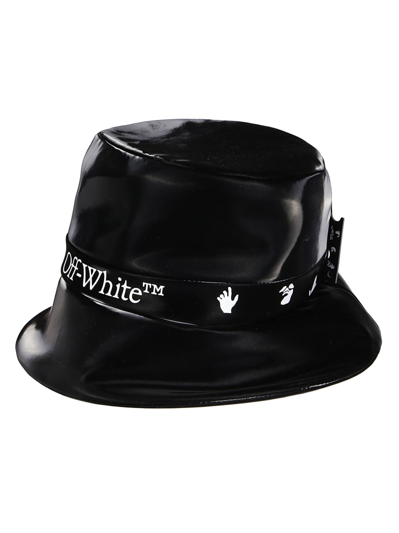 Off-White Black Rain Cap - Black white