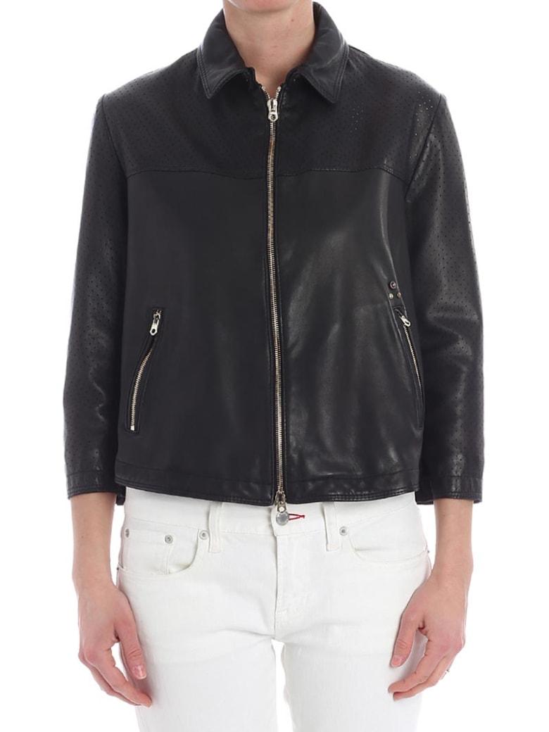 Delan Leather Jacket - BLACK