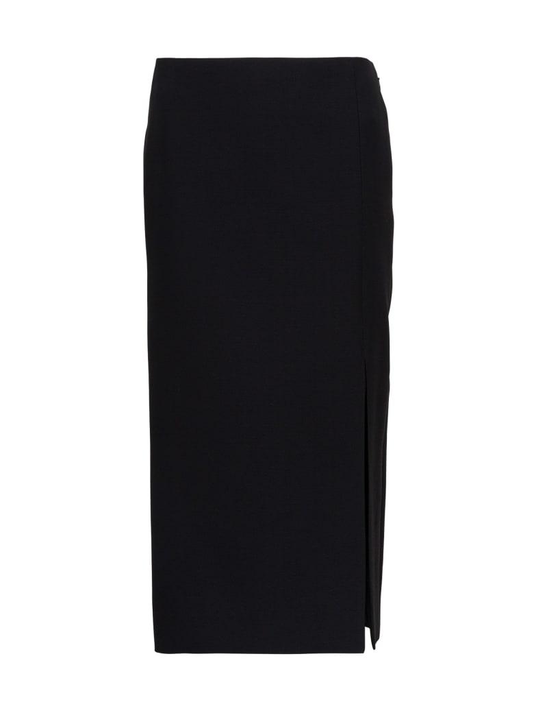 Valentino Pencil Skirt In Crepe Couture - Nero