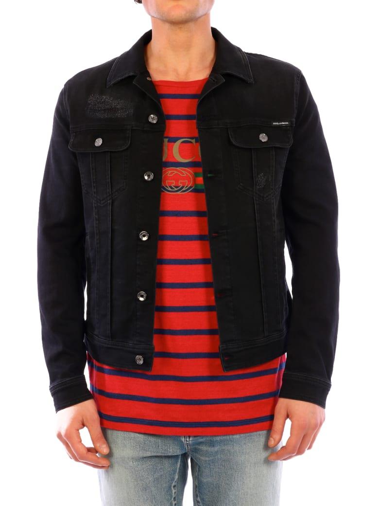 Dolce & Gabbana Black Denim Jacket - Black