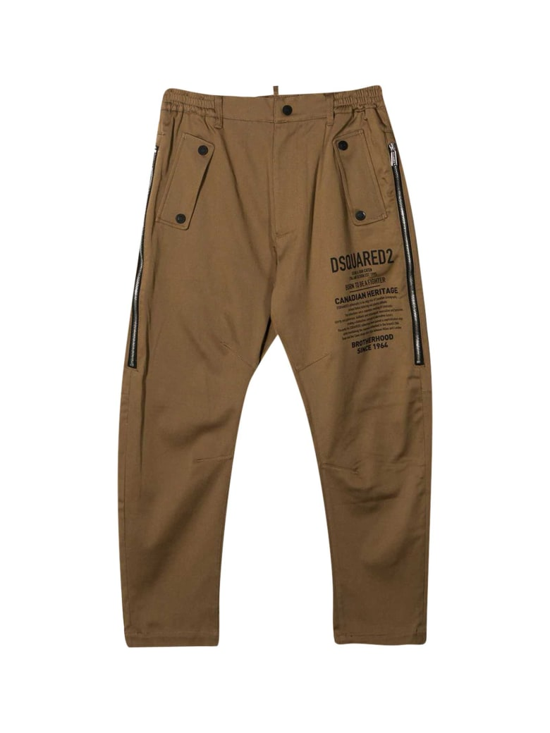 Dsquared2 Camel Trousers - Marrone