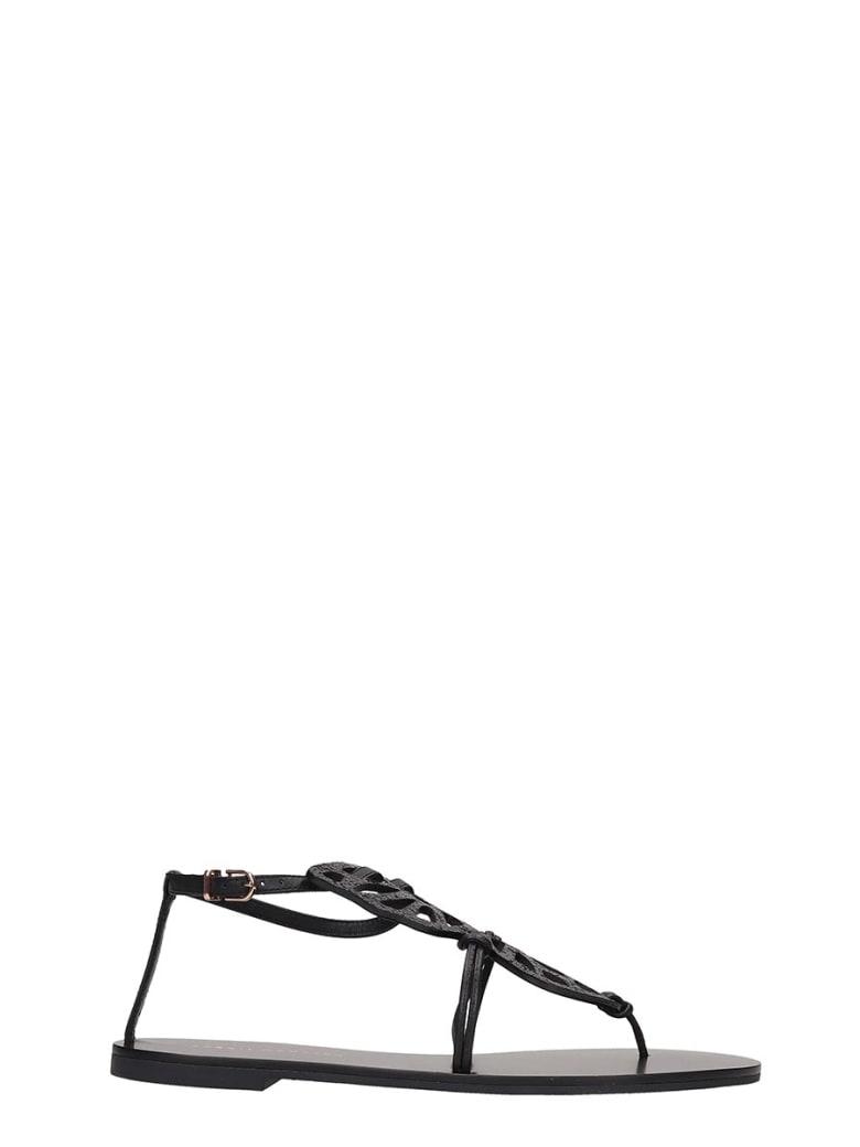 Sophia Webster Butterfly Flats In Black Leather - black