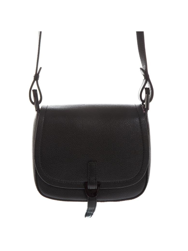 Coccinelle Black Leather Crossbody Bag - Black