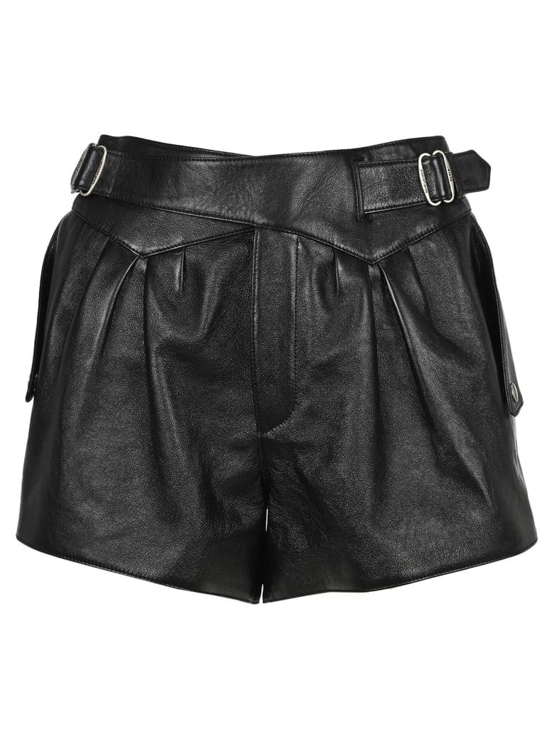 Saint Laurent High-rise Shorts - BLACK