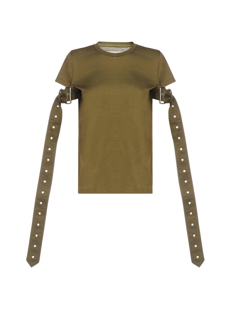Marques'Almeida Belt-sleeves Cotton T-shirt - Khaki