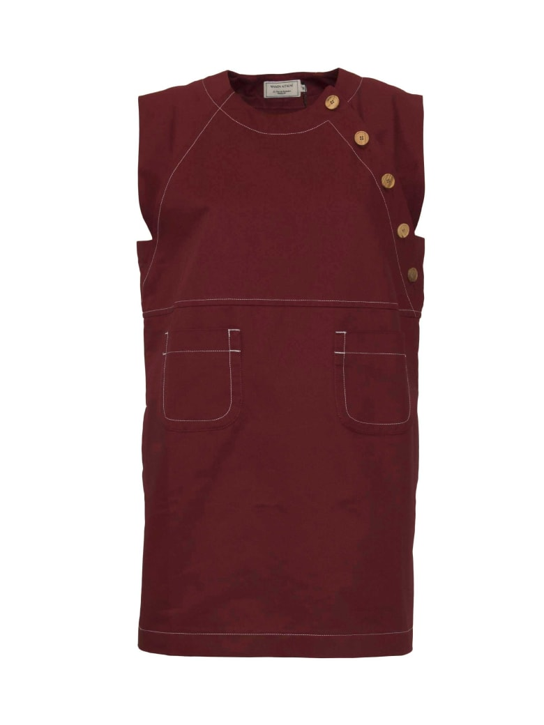 Maison Kitsuné Embellished Dress - Re Red