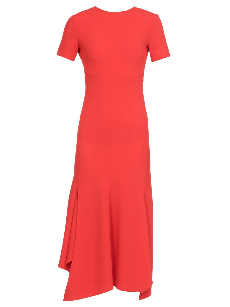 Victoria Beckham Dress With Asymmetric Hem - RED