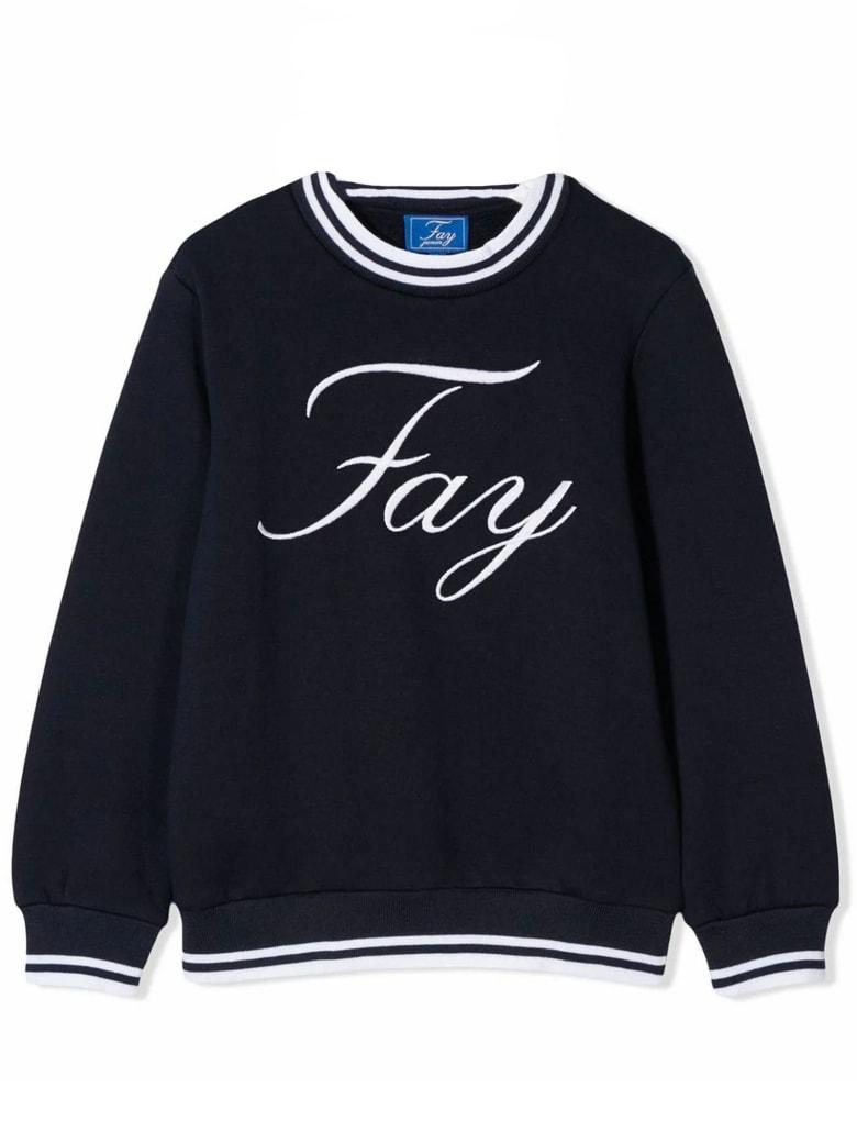 Fay Dark Blue Cotton Sweatshirt - Blu