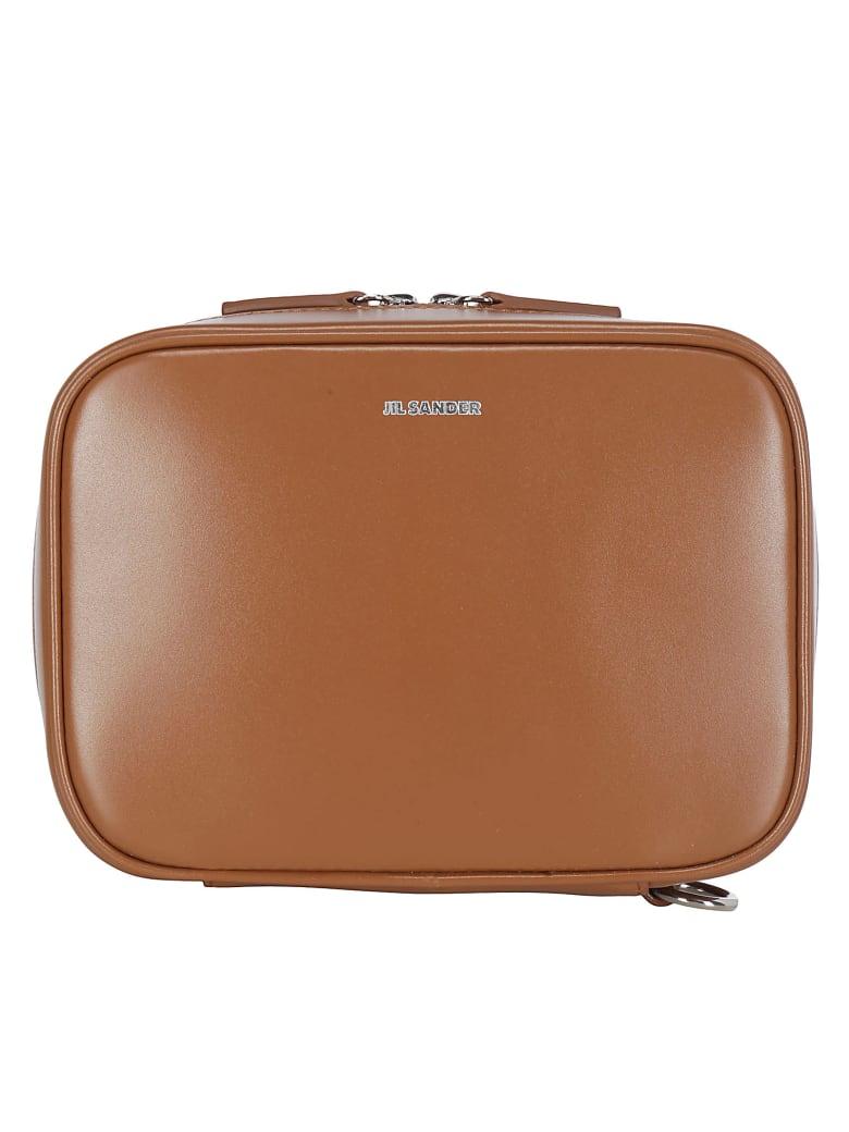 Jil Sander J-vision Clutch - Medium brown