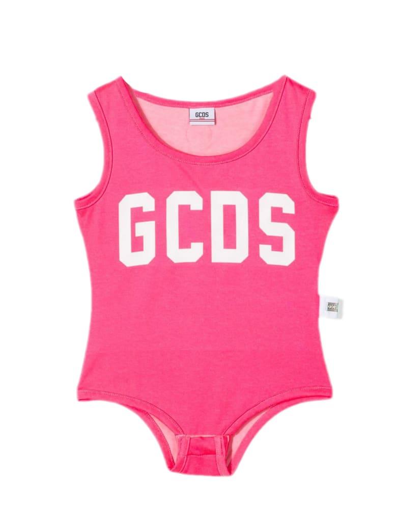 GCDS Fuchsia Stretch Cotton-blend Bodysuit - Fuxia