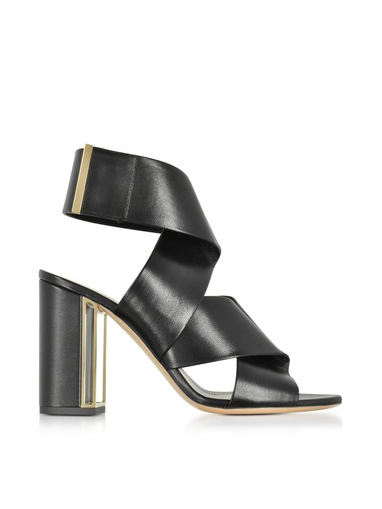 Nicholas Kirkwood Black Nappa Leather Nini Sandals - Black
