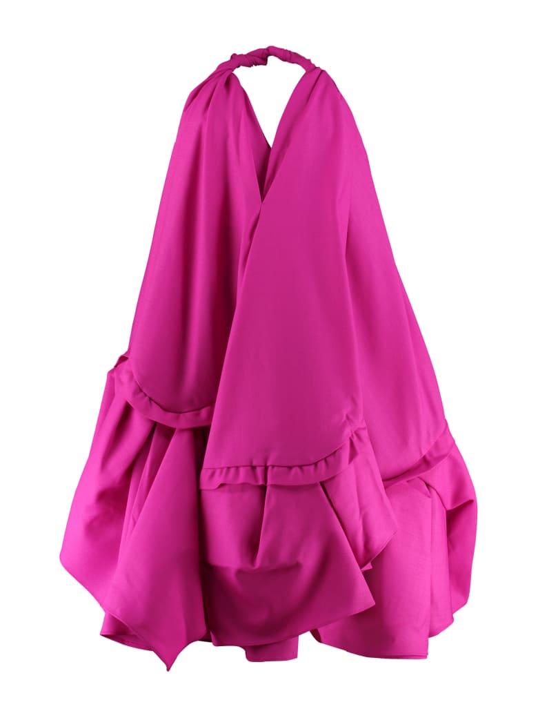 Jacquemus Asymmetric Mini Dress - Fuchsia