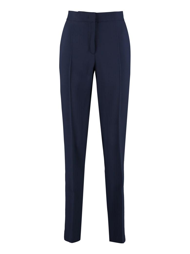 Alberta Ferretti High-waist Crêpe Trousers - blue
