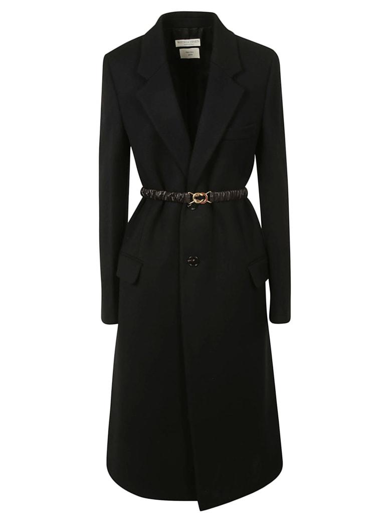 Bottega Veneta Belted Coat - Black/chocolate