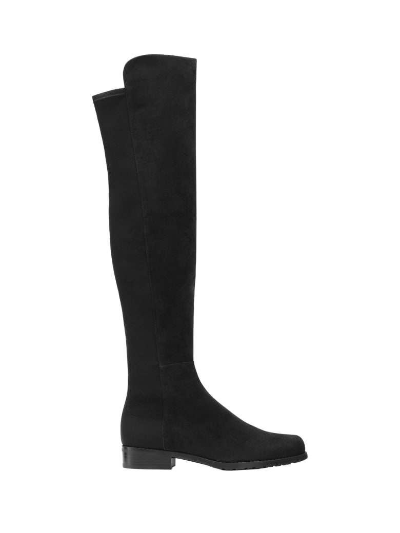 Stuart Weitzman 5050 Suede Boots - Black