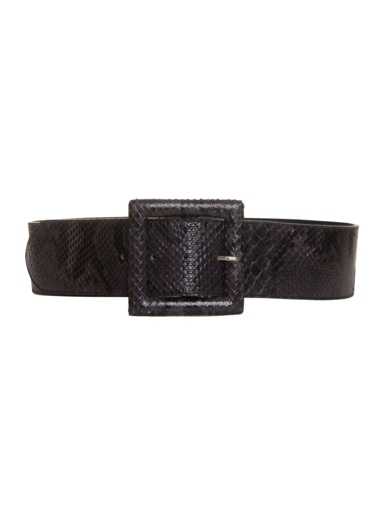 Orciani Leather Belt - GRIGIO