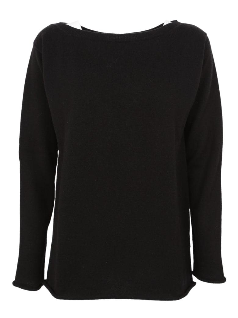 Saverio Palatella Boat Neck Sweater - Black