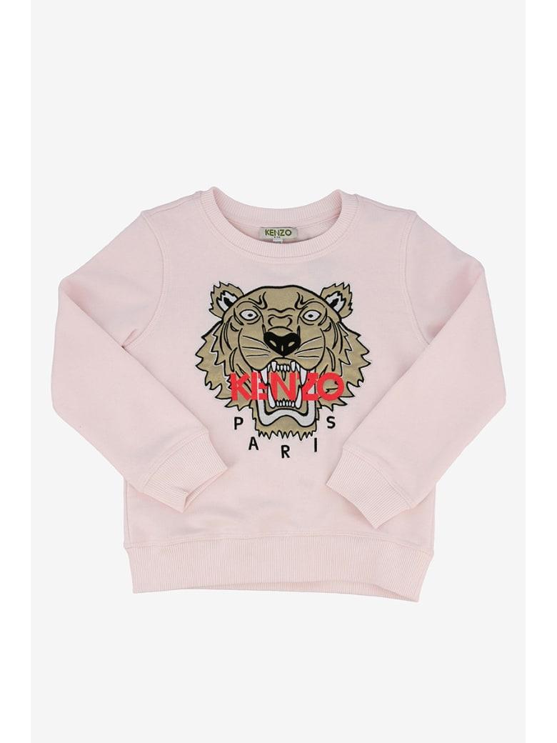 Kenzo Kids Sweatshirt With Tiger Print - Rosa