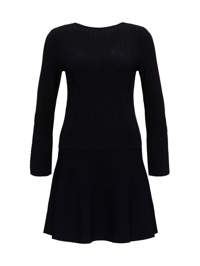 Alberta Ferretti Stretch Viscose Dress - Black