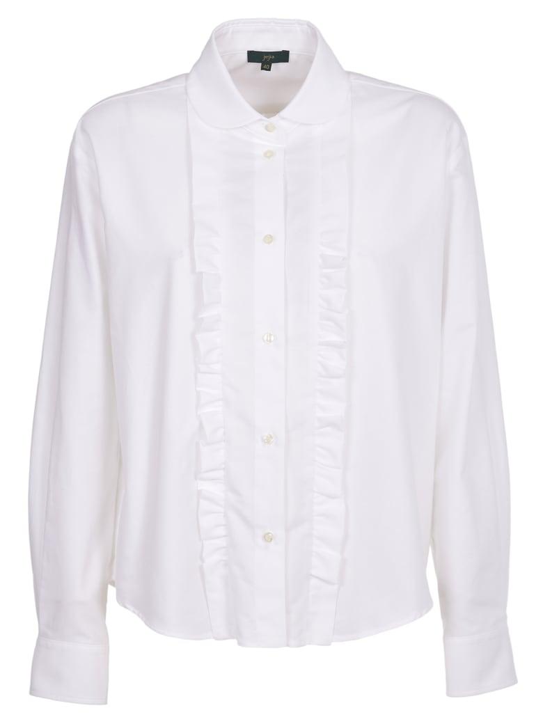 Jejia White Shirt With Ruffles - white