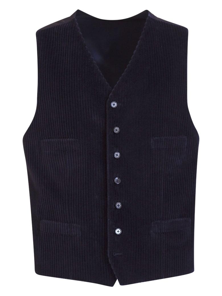 Dolce & Gabbana Velvet Vest - Blu
