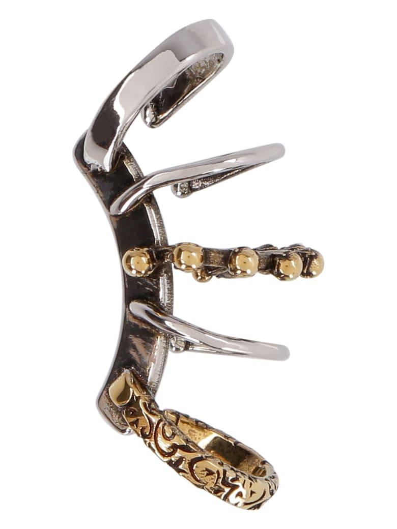 Alexander McQueen Punk Ear-cuff - silver