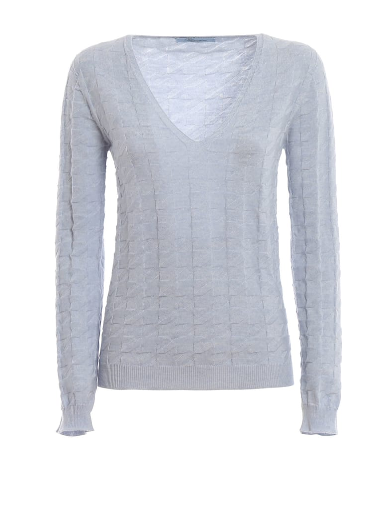 Blumarine V Neck Sweater - Azzurro