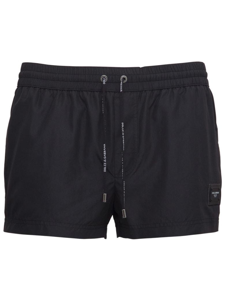 Dolce & Gabbana Black Nylon Swimsuit - Black