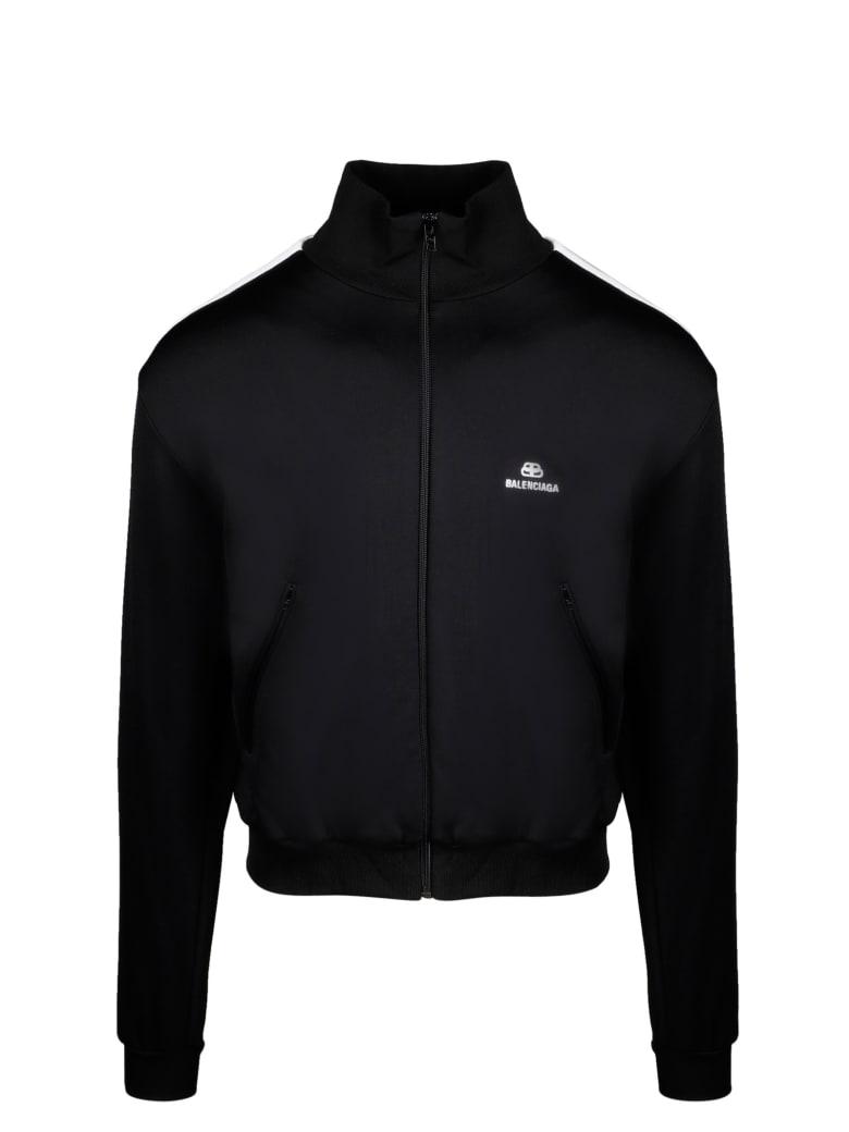 Balenciaga Full-zip Sweatshirt - Black