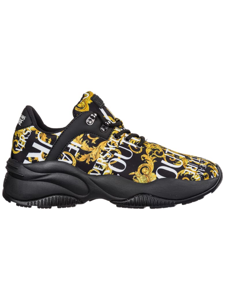 Best price on the market at italist | Versace Jeans Couture Versace Jeans Couture Shoes Nylon Trainers Sneakers Logo Baroque