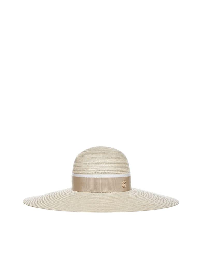 Maison Michel Blanche Straw Hat - Natural beige