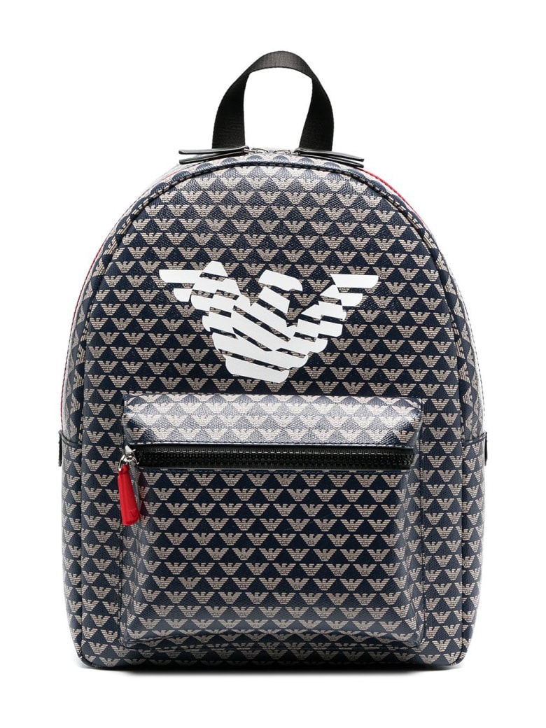 Emporio Armani Backpack With Print - Gray