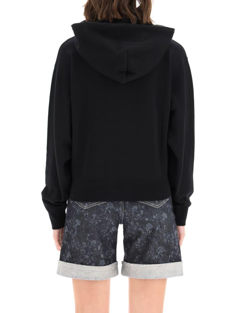 Kenzo Boxy Sweatshirt With Tiger Gradient Embroidery - BLACK