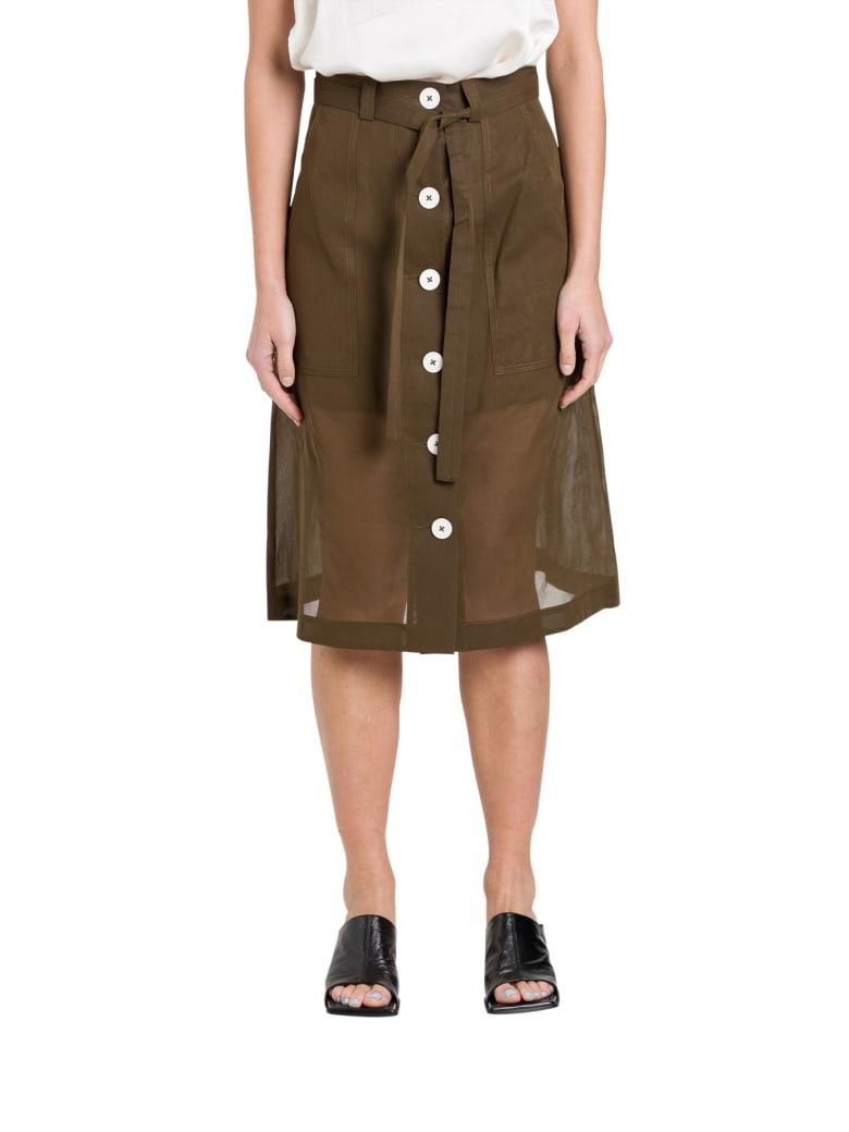 Eudon Choi Manet Skirt - Marrone